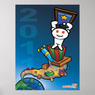 reddit Secret Santa 2011 poster