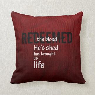 Redeemed, Christian Gift Throw Pillow