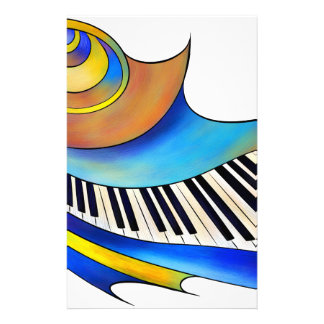 Redemessia - spiral piano personalized stationery