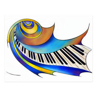 Redemessia - spiral piano postcard