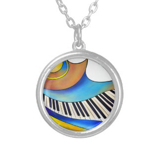 Redemessia - spiral piano silver plated necklace