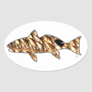 Redfish by Patternwear© Oval Sticker