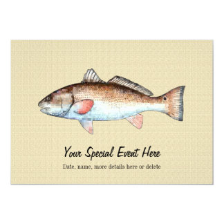 Redfish Event Party Invitations