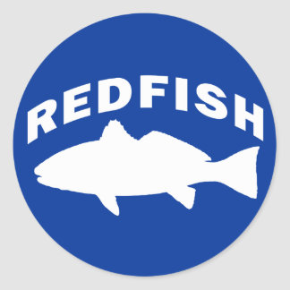 Redfish Fishing Logo Classic Round Sticker