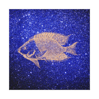 Redfish Marine Sea Ocean Life Pink Rose Gold Canvas Print