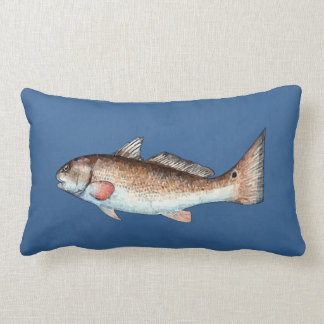Redfish on Blue Pillow