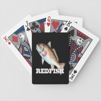 Redfish Playing Cards (black)