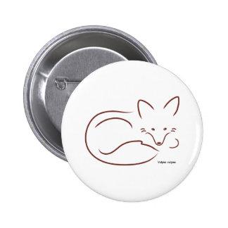 RedFox Pinback Button