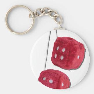 RedFuzzyDice073011 Key Ring