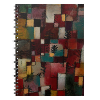 Redgreen and Violet-yellow Rhythms by Paul Klee Notebook