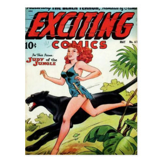 Redhead and her Panther Postcard