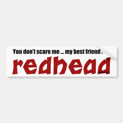 Redhead Best Friend Bumper Sticker