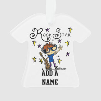 Redhead Boy Rock Star Ornament