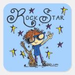 Redhead Boy Rock Star Stickers