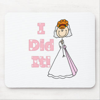 Redhead Bride I Did It Mouse Pad