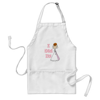 Redhead Bride I Did It T-shirts and Gifts Aprons