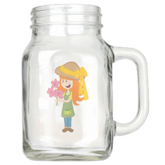 Redhead Gardening Mason Jar, with Handle (20 oz) Mason Jar