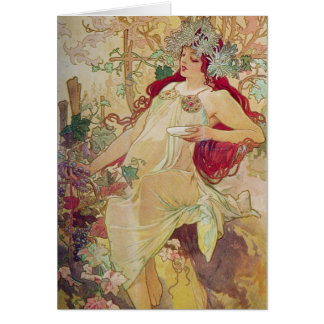 Redhead Goddess Card