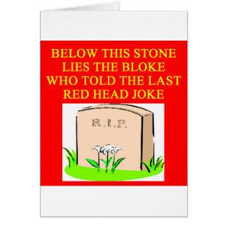 REDHEAD joke Card