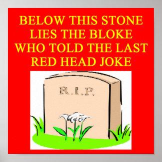 REDHEAD joke Poster