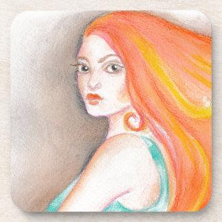 Redhead Lady Coaster
