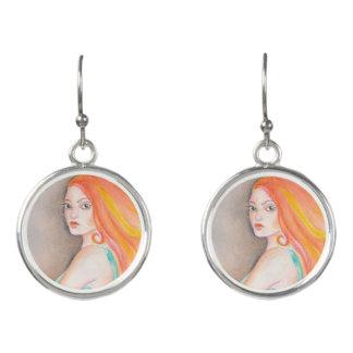 Redhead Lady Earrings