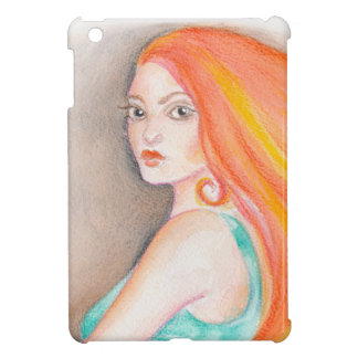 Redhead Lady iPad Mini Case