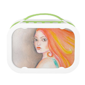 Redhead Lady Lunch Box