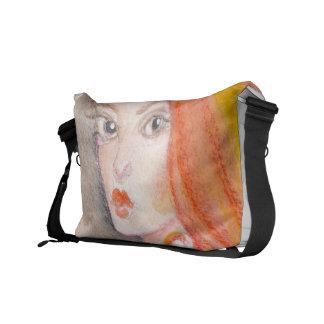 Redhead Lady Messenger Bags