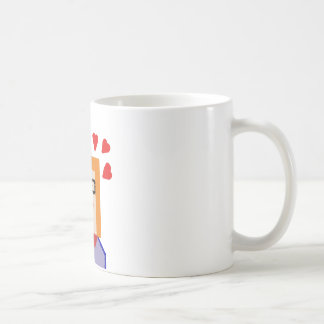 Redhead to hipster to lover funny cartoon basic white mug