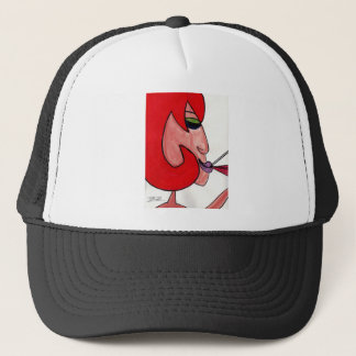 Redhead with Red Wine Trucker Hat
