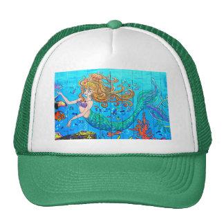 redheaded mermaid green cap