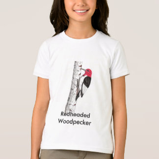 Redheaded Woodpecker on Kids T-Shirt