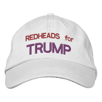 REDHEADS for TRUMP Embroidered Baseball Caps