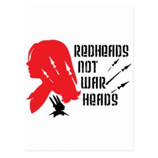 Redheads Not Warheads Postcard