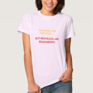 REDHEADS REMEMBERED T SHIRTS