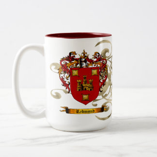 Redmond Coat of Arms Two-Tone Coffee Mug