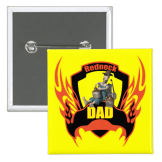 Redneck 15 Cm Square Badge
