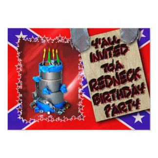 REDNECK BIRTHDAY PARTY INVITATION - DUCT TAPE