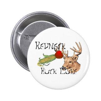 redneck buck lure 6 cm round badge