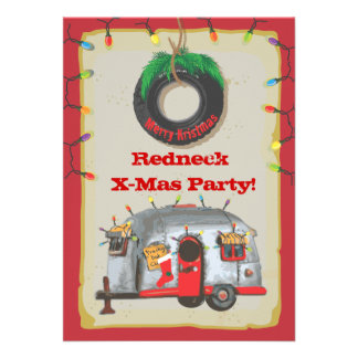 Redneck Christmas Party Invitations