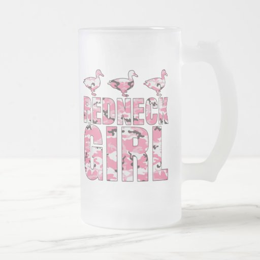 Redneck Girl Frost Mug with Pink Camouflage Ducks Mug
