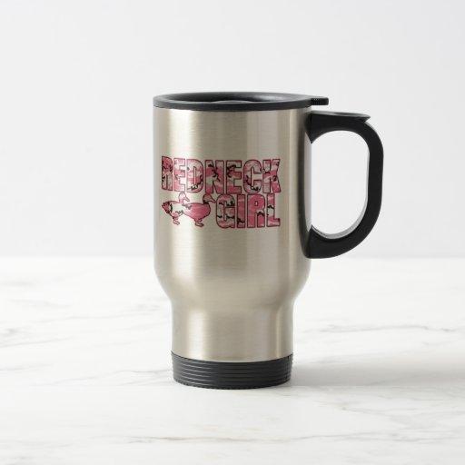 Redneck Girl Mug with Pink Camouflage Ducks Coffee Mug