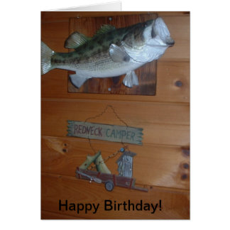 RedNeck Happy Birthday Card