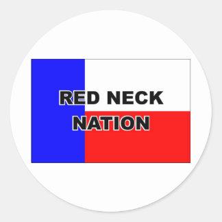 REDNECK NATION ROUND STICKER
