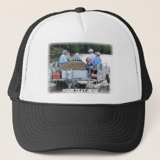 Redneck Pontoon Boat, Your Text Here Trucker Hat