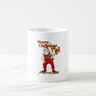 Redneck Santa Christmas Coffee Mugs