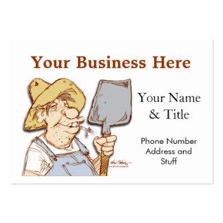 Redneck service construction tech support business card template