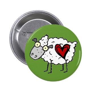Redneck Sweetheart - Sheep Love 6 Cm Round Badge