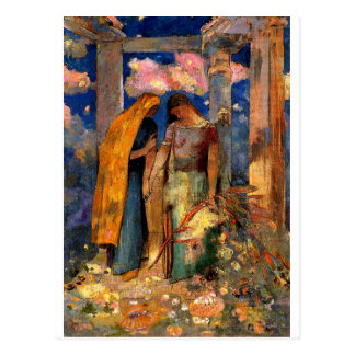 Redon - Mystical Conversation Postcard